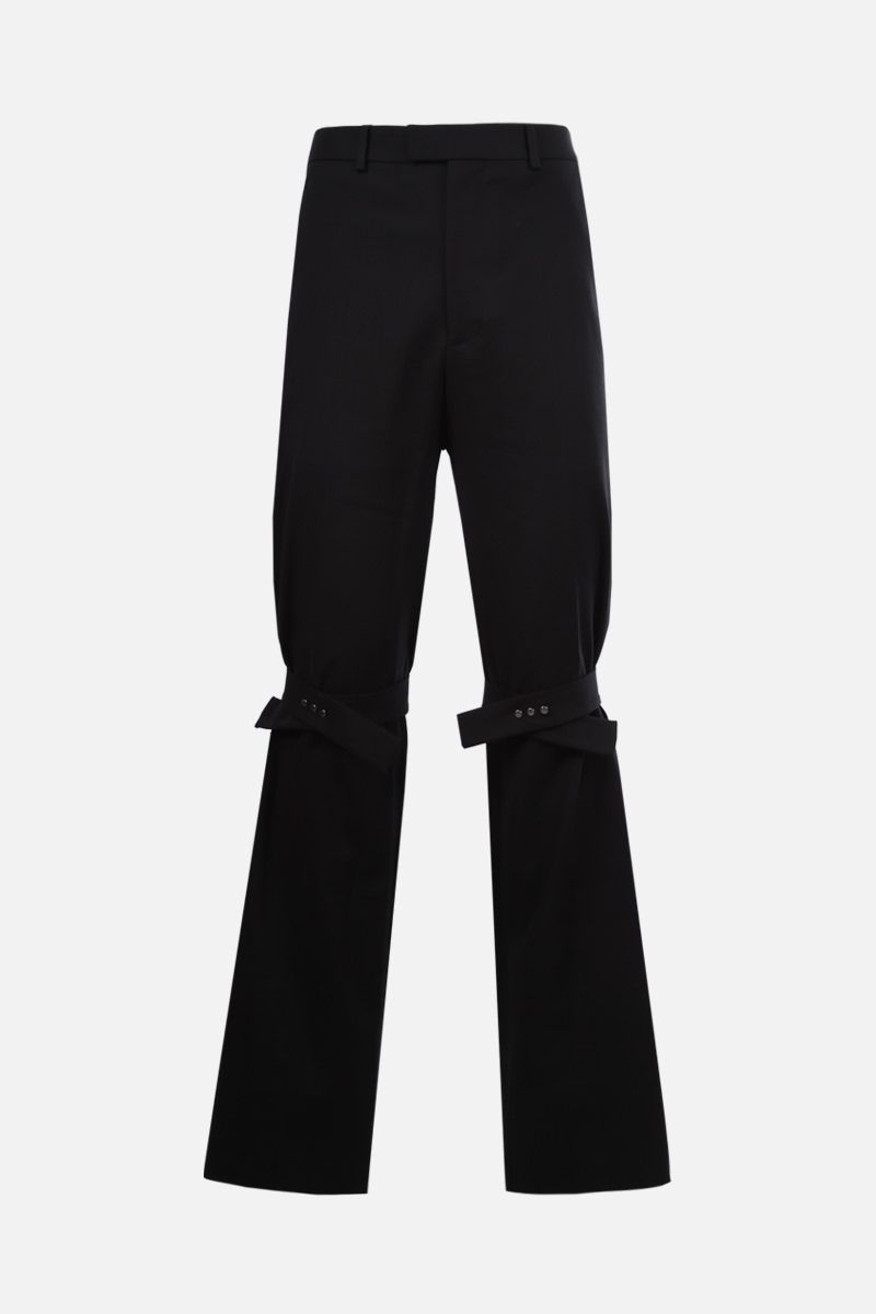 BOTTEGA VENETA: tab-detailed stretch cotton straight-fit pants Color Black_1