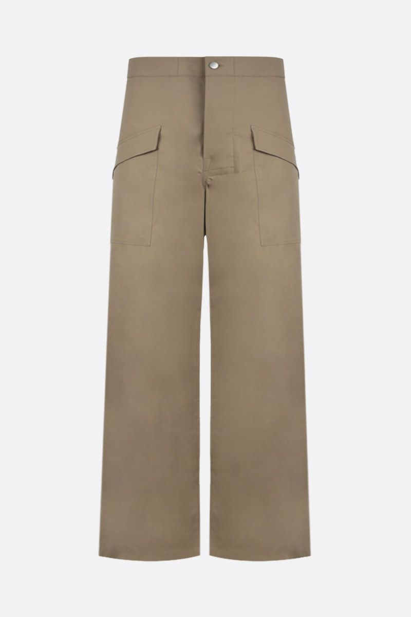 BOTTEGA VENETA: stretch cotton cargo pants Color Neutral_1