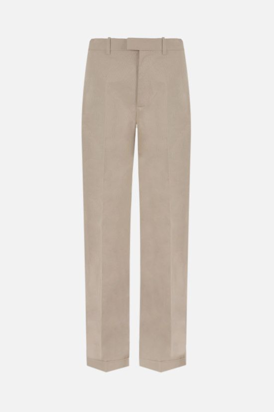 BOTTEGA VENETA: wide-leg cotton twill pants Color Neutral_1