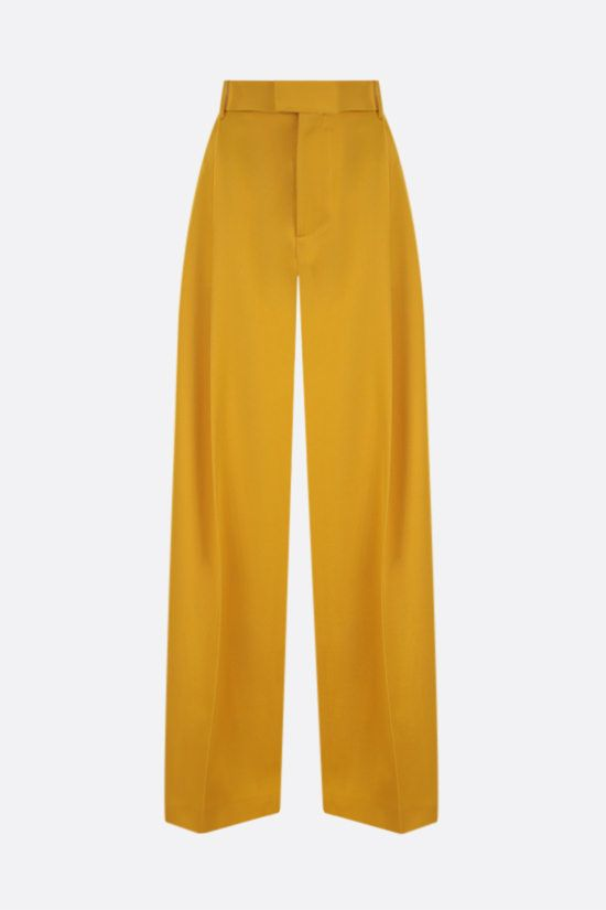 BOTTEGA VENETA: wide-leg wool gabardine pants Color Yellow_1