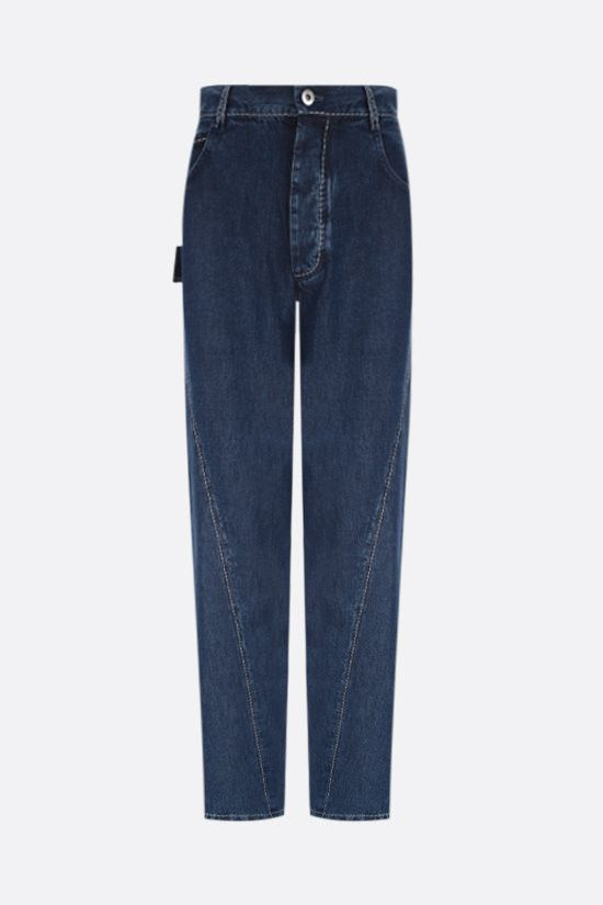 BOTTEGA VENETA: lightweight denim wide-leg pants Color Blue_1