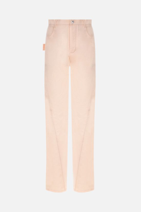 BOTTEGA VENETA: twill wide-leg pants Color Neutral_1
