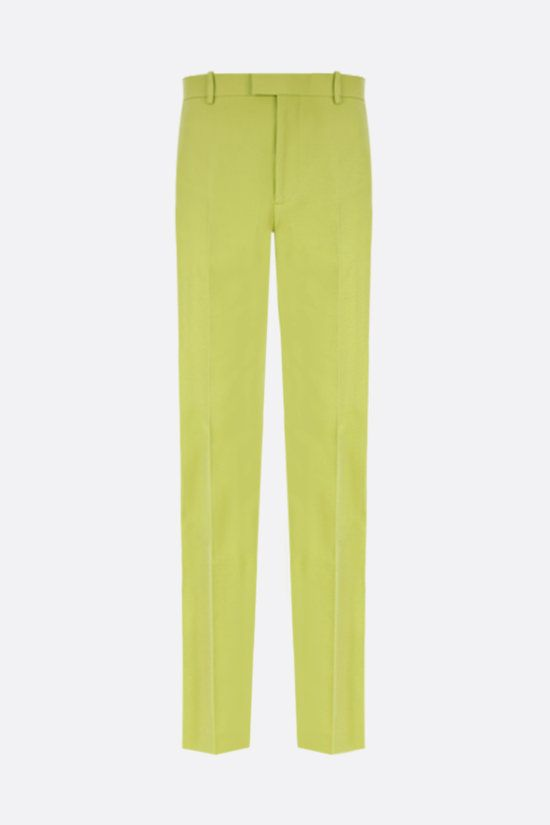 BOTTEGA VENETA: cotton straight-leg pants Color Green_1