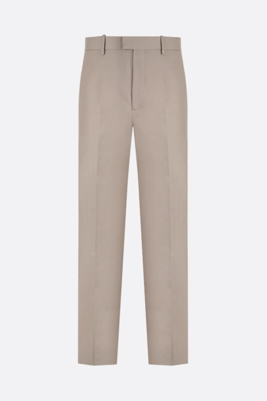 BOTTEGA VENETA: regular-fit canvas pants Color Neutral_1