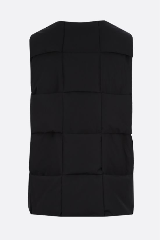 BOTTEGA VENETA: Intrecciato-motif technical cotton sleeveless down jacket Color Black_2