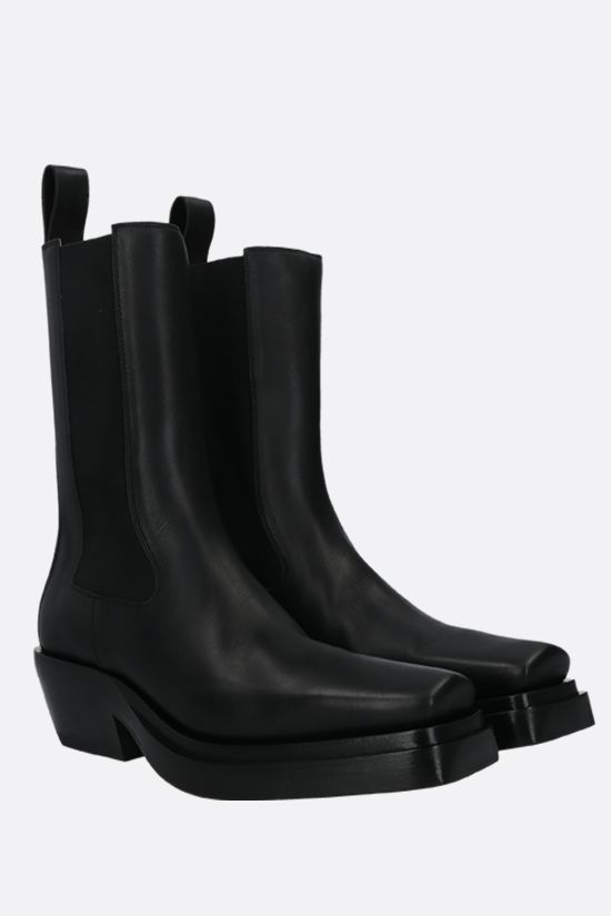 BOTTEGA VENETA: BV Lean smooth leather western boots Color Black_2