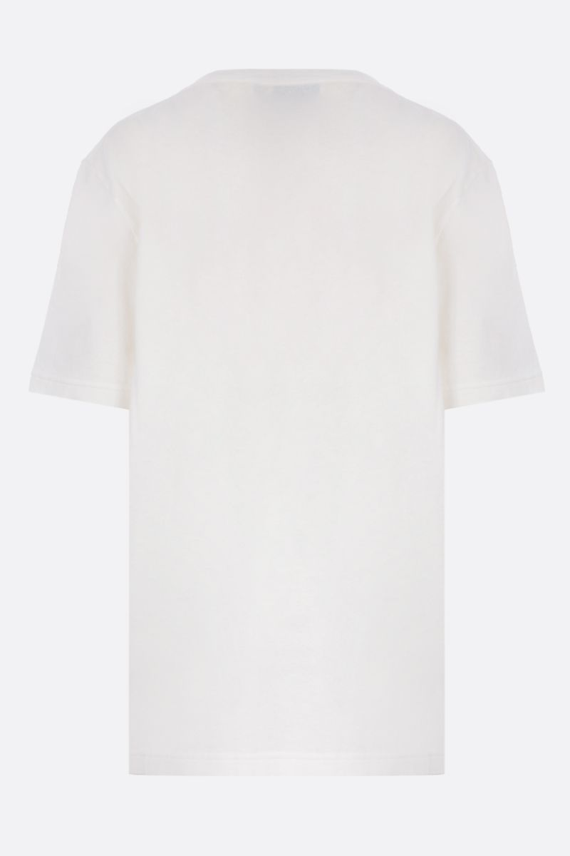 BOTTEGA VENETA: Bottega embroidered cotton t-shirt Color White_2