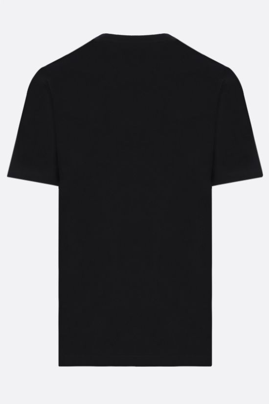 BOTTEGA VENETA: logo embroidered cotton t-shirt Color Black_2