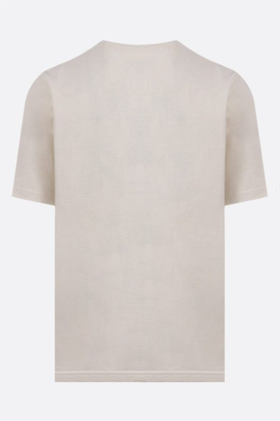 BOTTEGA VENETA: logo embroidered cotton t-shirt Color Multicolor_2