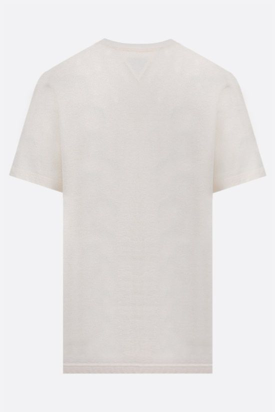 BOTTEGA VENETA: logo embroidered cotton t-shirt Color Neutral_2