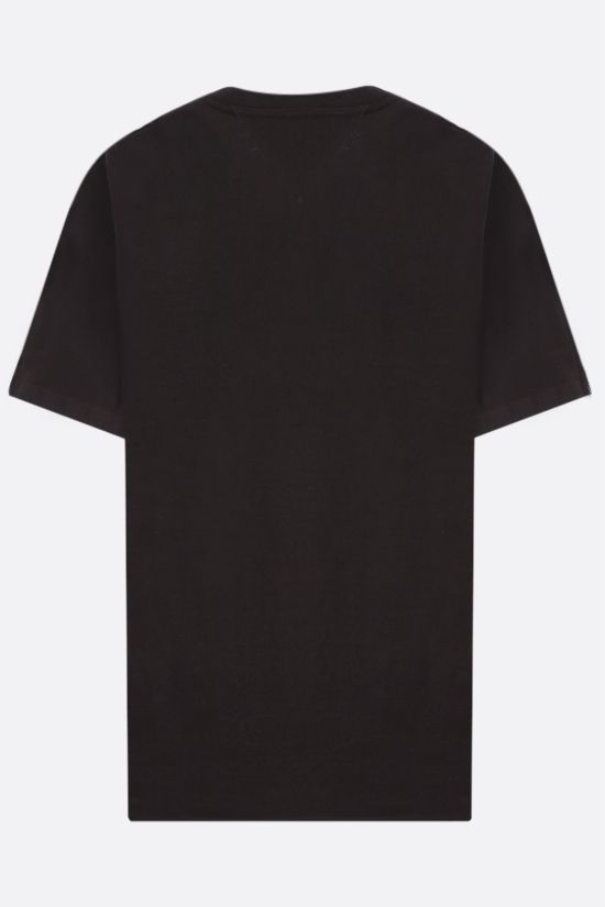 BOTTEGA VENETA: logo embroiedered cotton t-shirt Color Brown_2