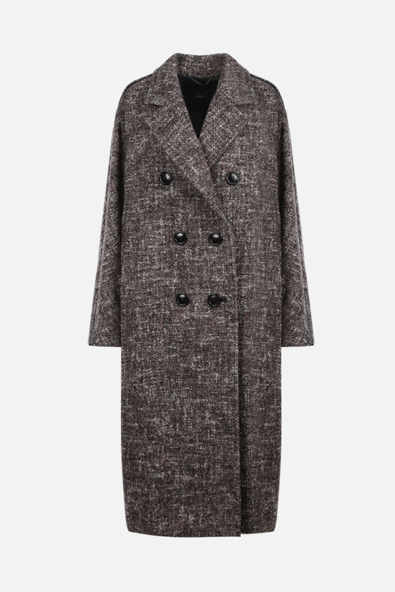 MAX MARA ATELIER: Teatino wool alpaca blend double-breasted coat Color Brown_1