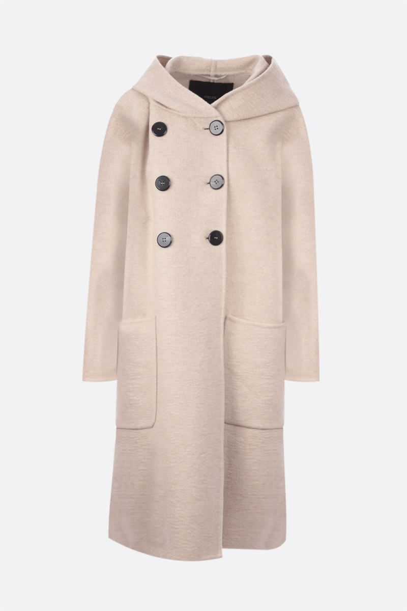 MAX MARA ATELIER: Sierra double-breasted cashmere coat Color Neutral_1
