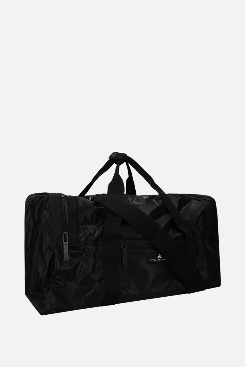 ADIDAS BY STELLA McCARTNEY: shiny nylon weekend bag Color Black_2