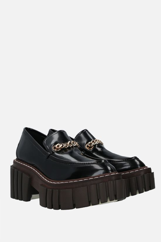STELLA McCARTNEY: Emilie platform loafers in shiny faux leather Color Black_2