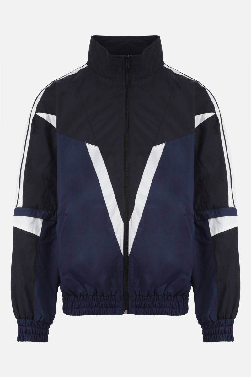 VETEMENTS: colour-block nylon full-zip tracksuit jacket Color Multicolor_1