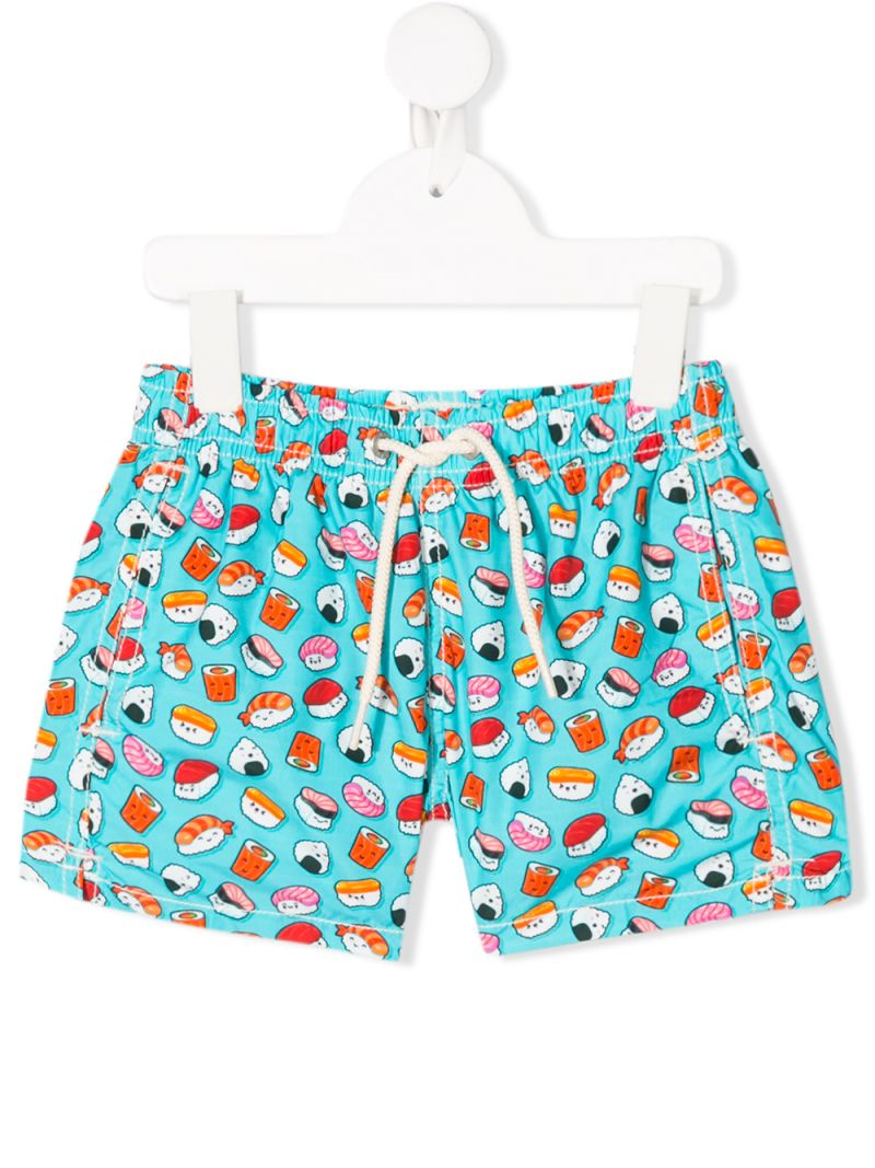 MC2 Saint Barth: sushi print nylon swim shorts Color Blue_1