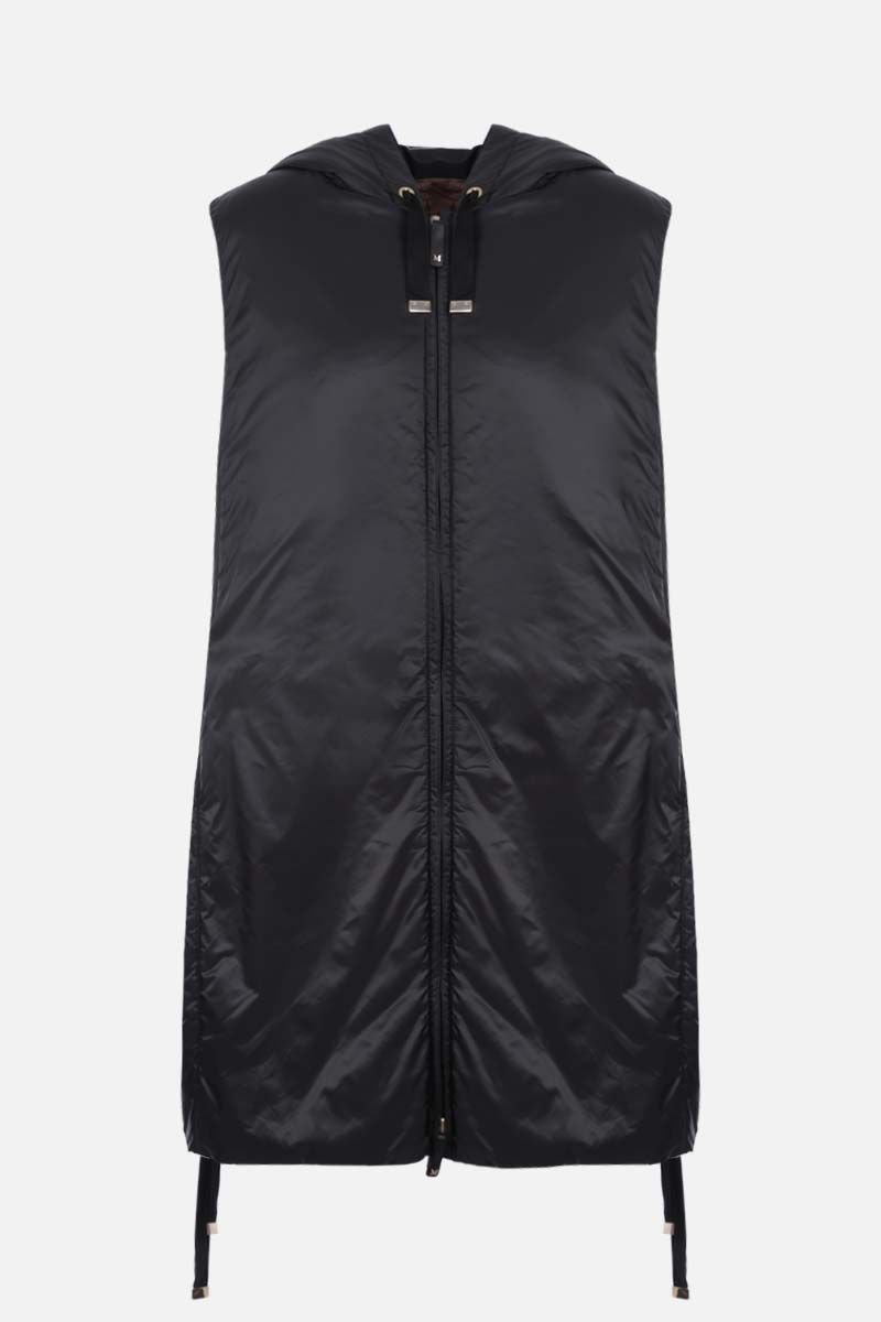 MAX MARA THE CUBE: Greengi padded nylon vest Color Black_1
