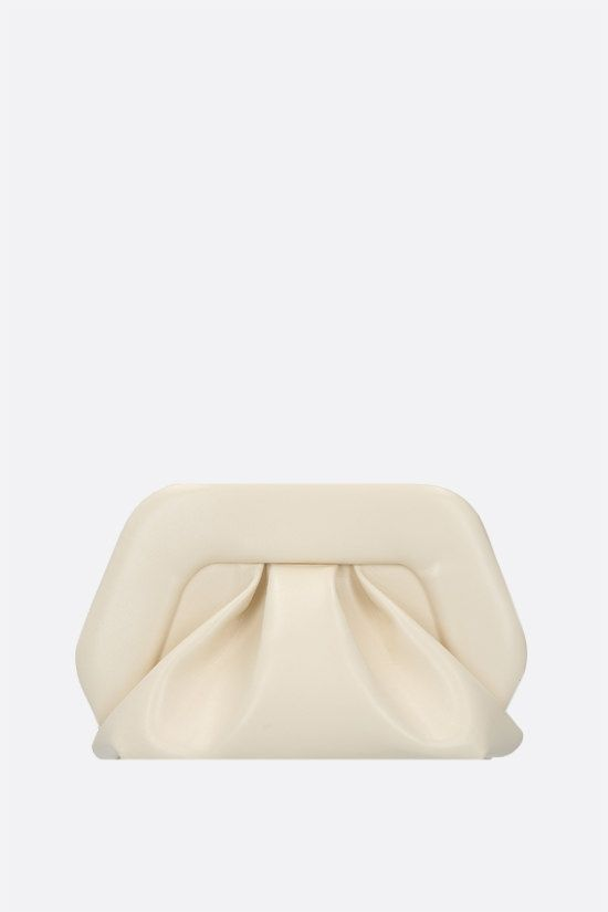THEMOIRè: Gea soft faux leather clutch Color White_1