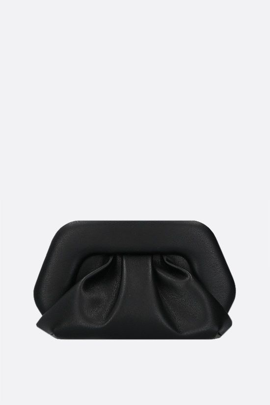 THEMOIRè: Gea soft faux leather clutch Color Black_1