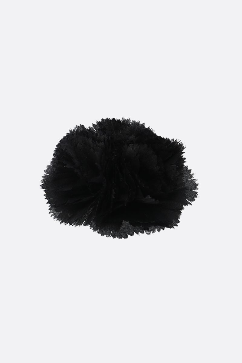 ALEXANDRE VAUTHIER: organdy floral brooch Color Black_1