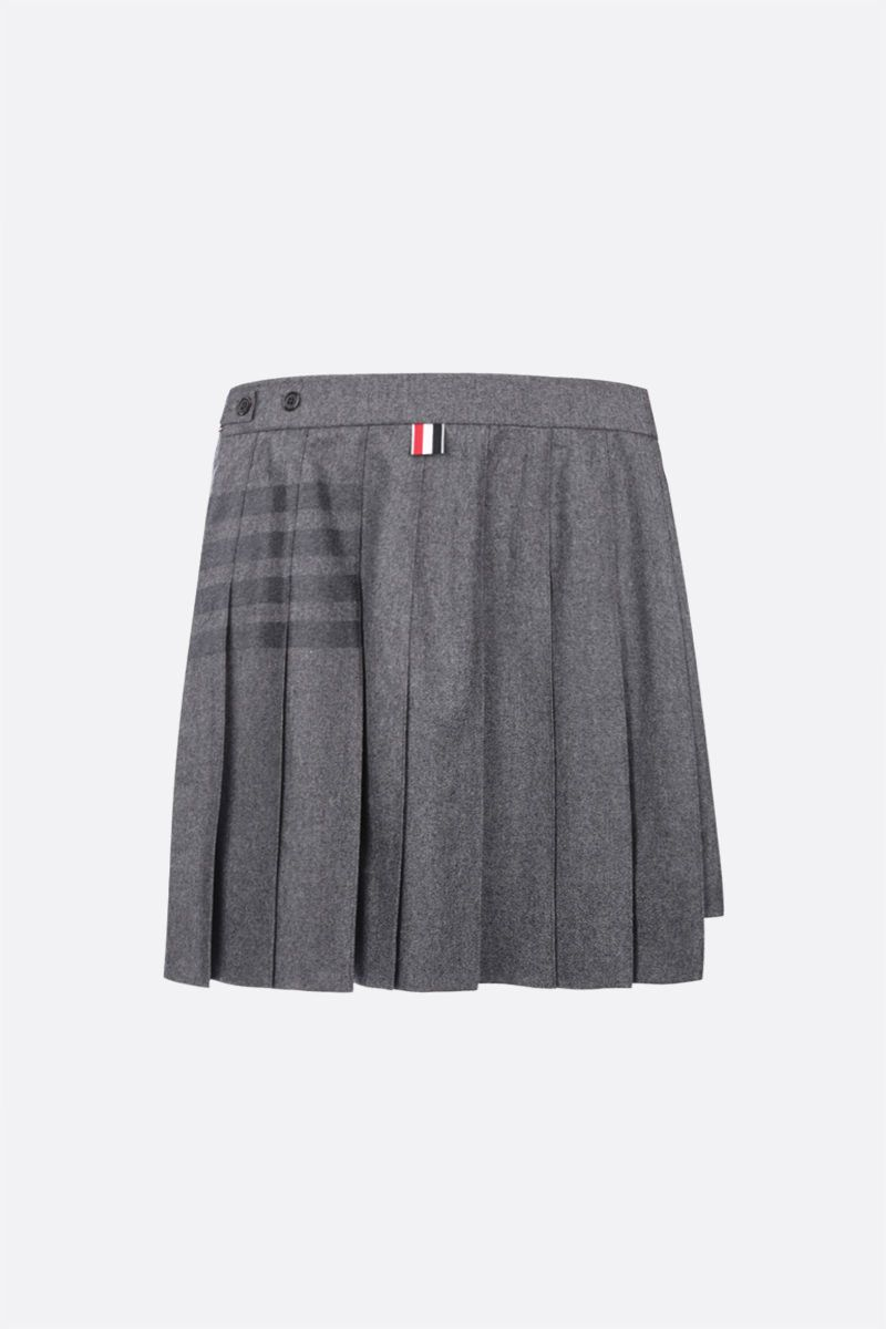 THOM BROWNE: cashmere wool blend pleated skirt Color Grey_2
