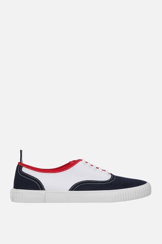 THOM BROWNE: Heritage canvas sneakers Color Multicolor_1