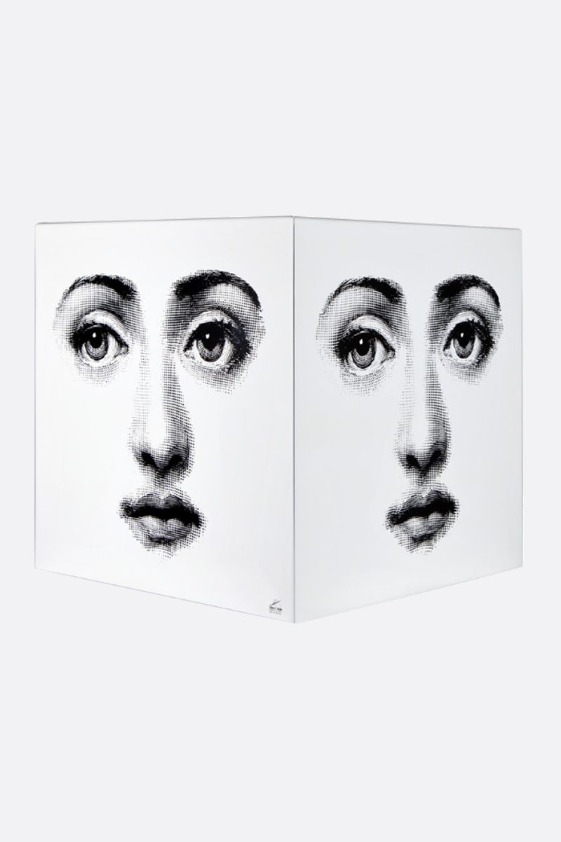 FORNASETTI: Viso laquered wood cube with drawer Color White_3