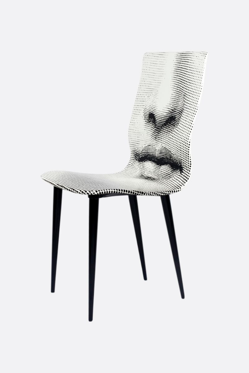 FORNASETTI: Bocca laquered wood chair Color Grey_2