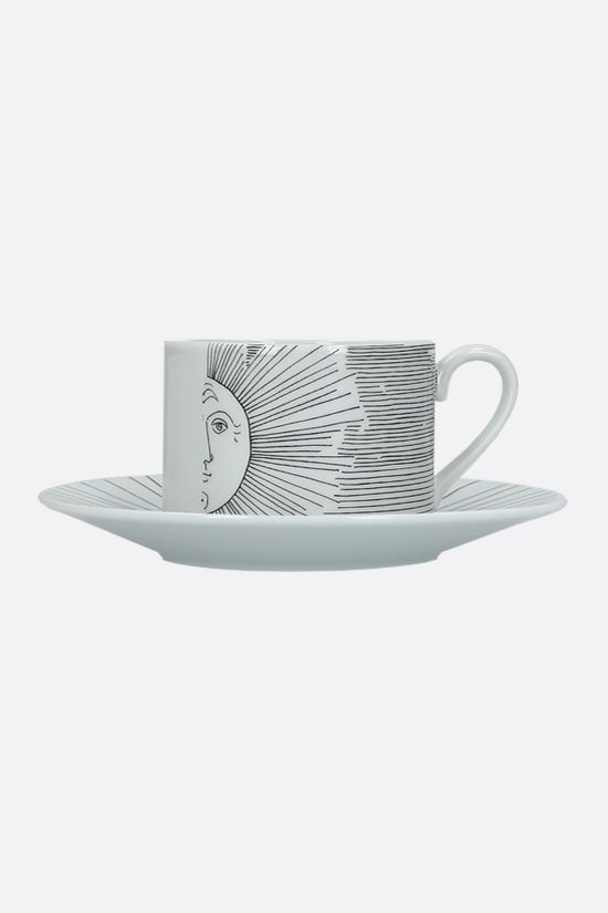 FORNASETTI: Solitario ceramic tea cup Color Grey_2