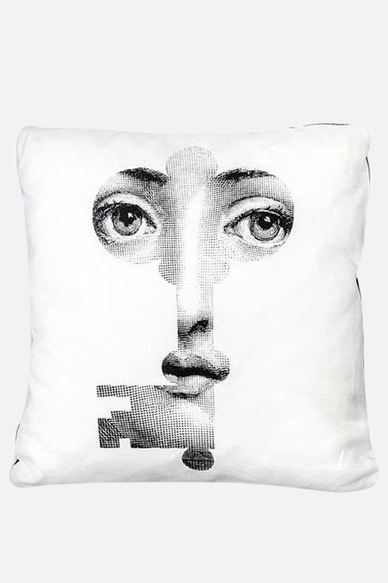 FORNASETTI: Chiave canvas cushion Color White_1