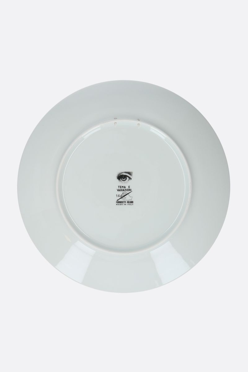 FORNASETTI: Tema e Variazioni N°14 ceramic wall plate Color Grey_2