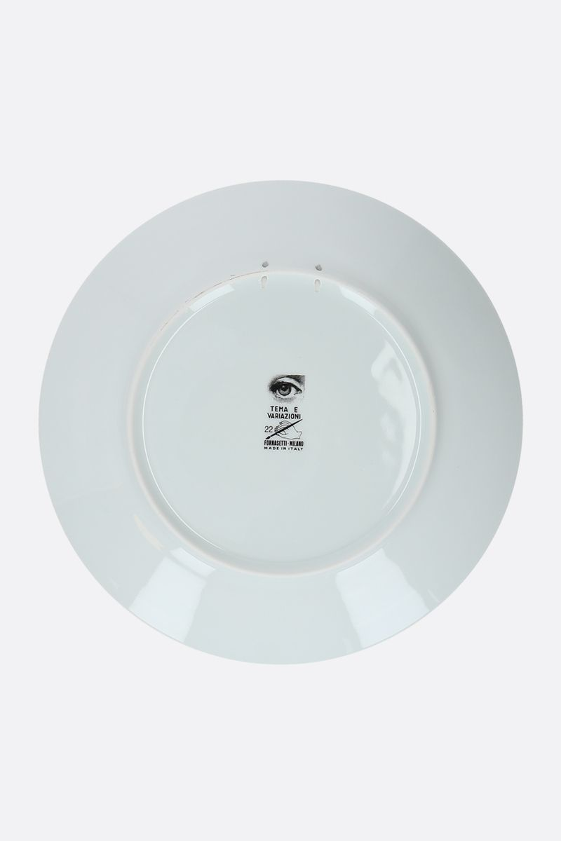 FORNASETTI: Tema e Variazioni N°22 ceramic wall plate Color Grey_2