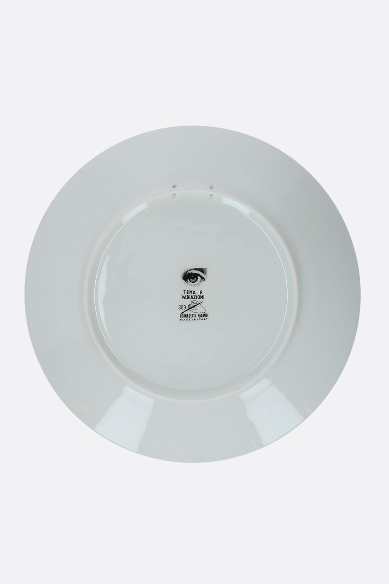 FORNASETTI: Tema e Variazioni N° 369 ceramic wall plate Color Grey_2