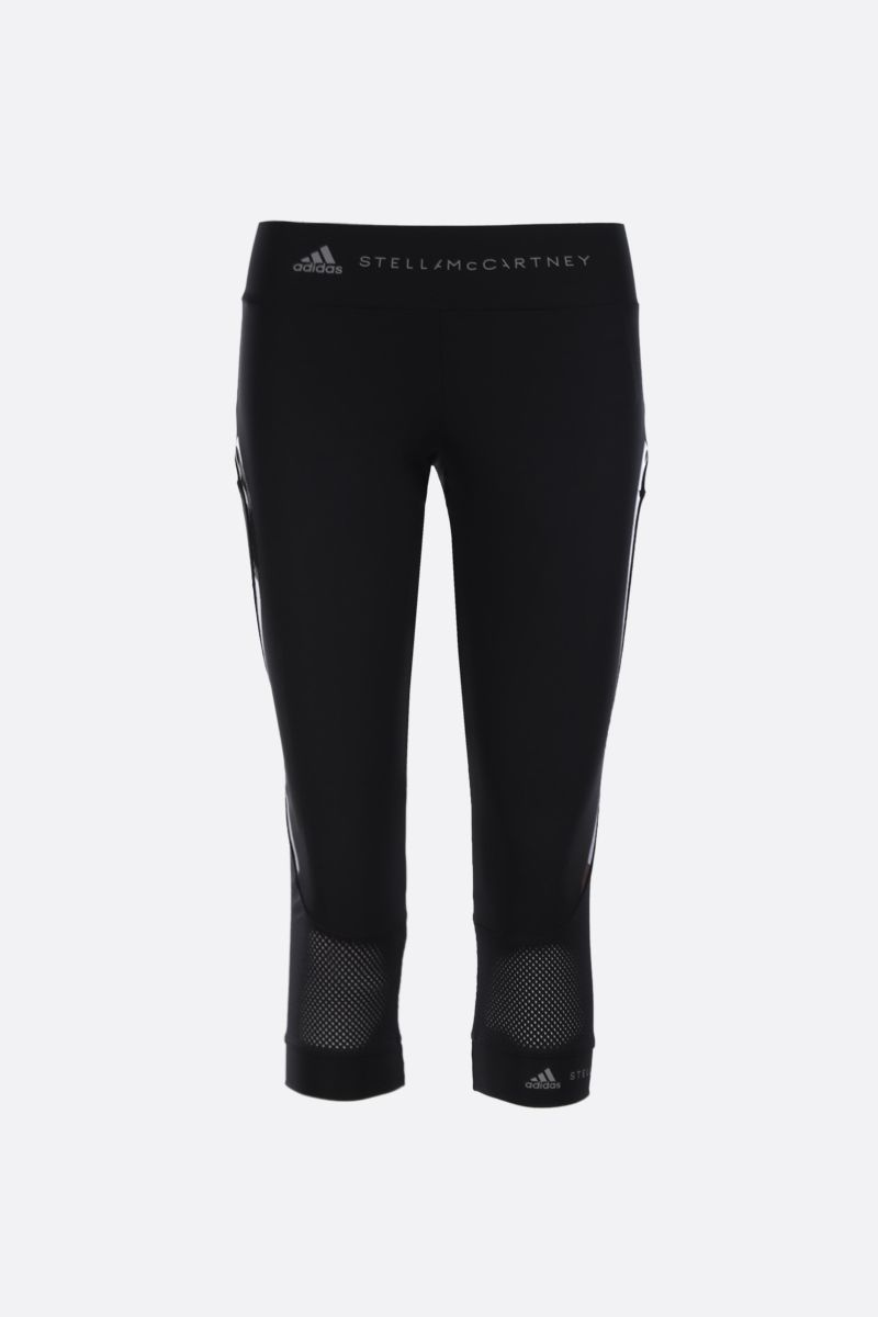 ADIDAS BY STELLA McCARTNEY: Essentials three-quarter tights in technical fabric Color Black_1