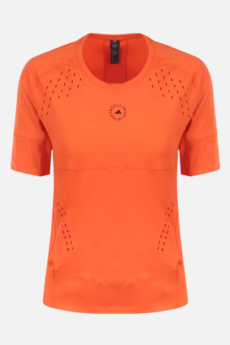 ADIDAS BY STELLA McCARTNEY: t-shirt Truepurpose in jersey stretch Colore Arancione_1