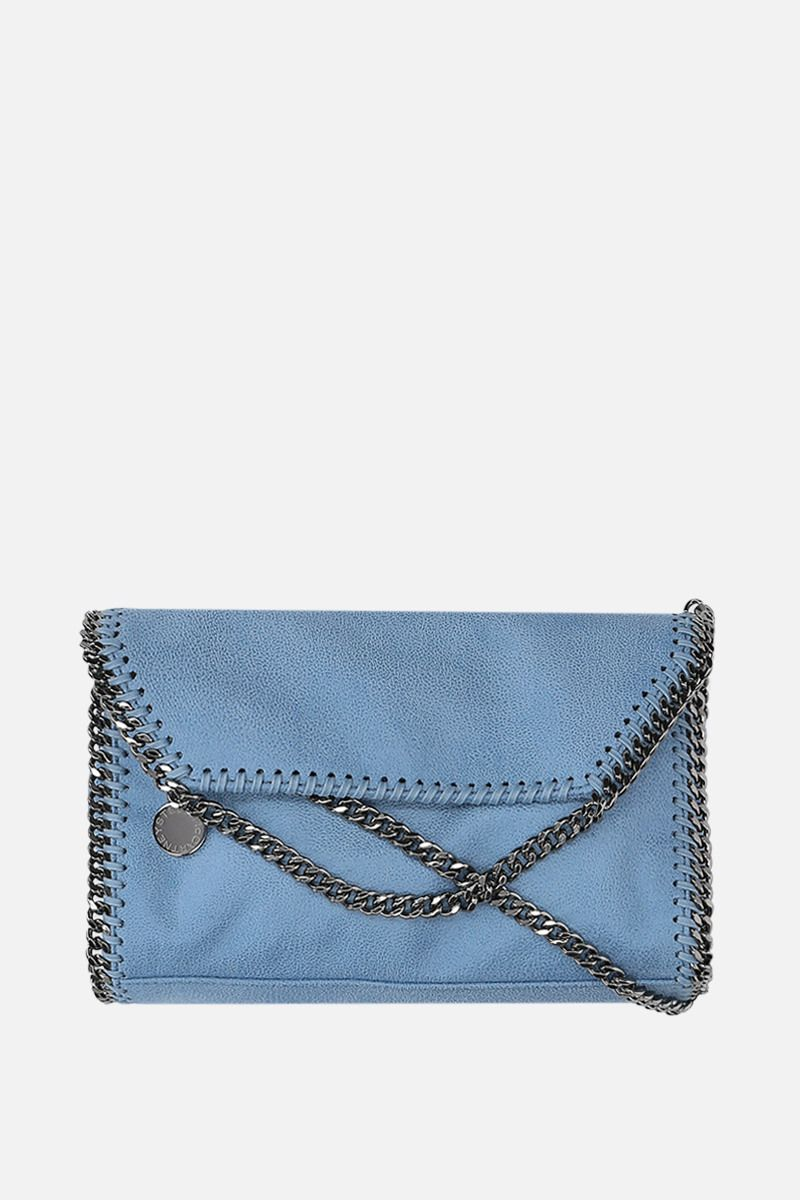 STELLA McCARTNEY: Falabella shoulder bag in Shaggy Deer Color Blue_1