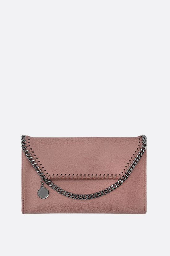 STELLA McCARTNEY: Falabella micro shoulder bag in Shaggy Deer Color Pink_1