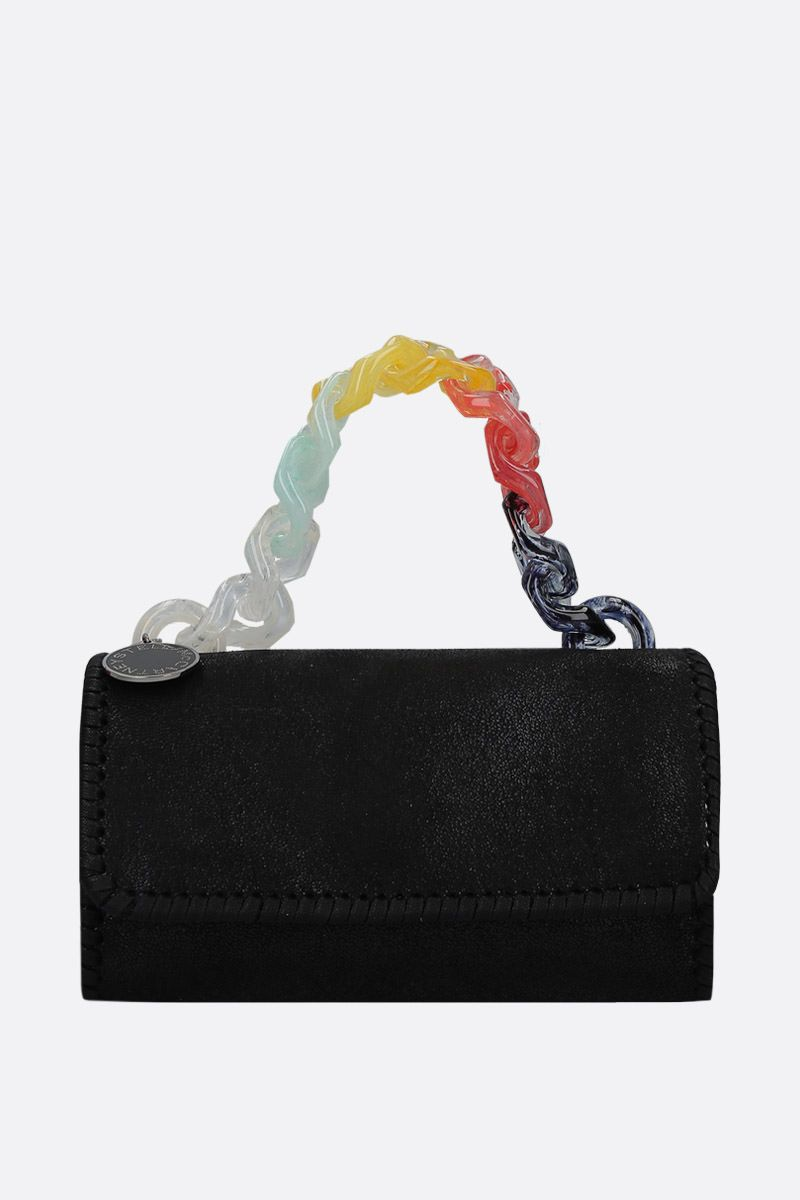 STELLA McCARTNEY: borsa a spalla in Shaggy Deer Colore Nero_1