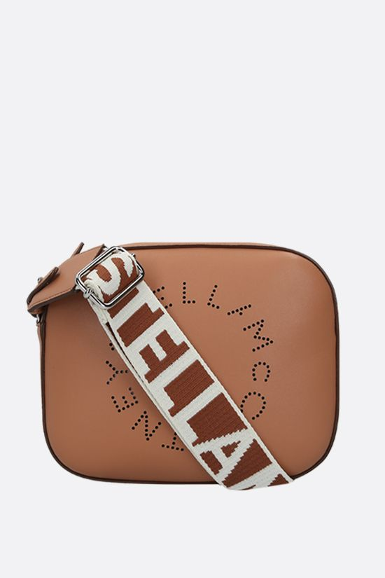 STELLA McCARTNEY: Stella Logo mini camera bag in Alter Nappa Color Brown_1
