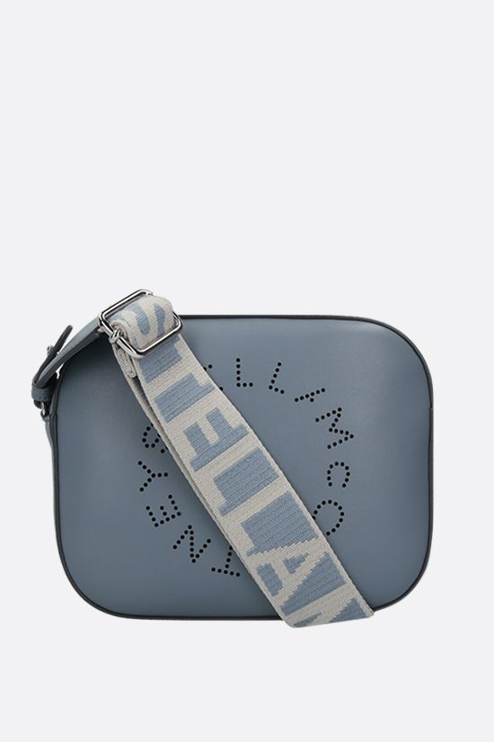 STELLA McCARTNEY: Stella Logo mini camera bag in Alter Nappa Color Blue_1