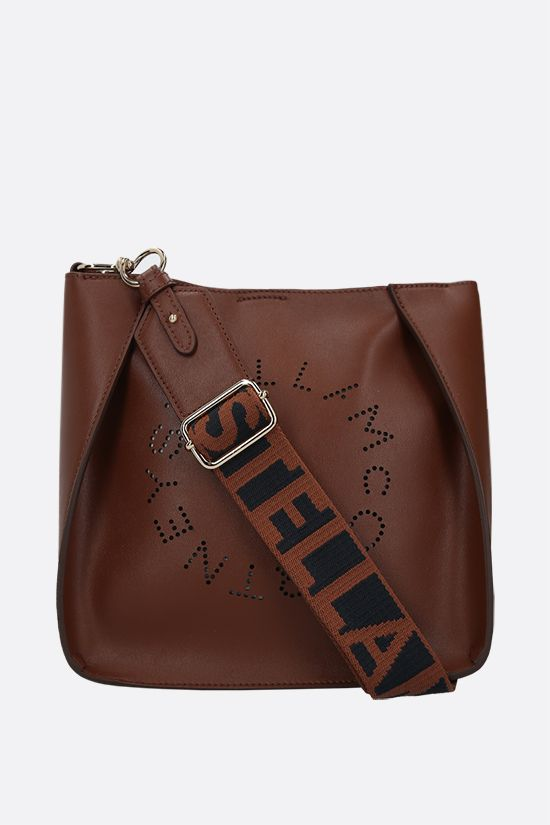 STELLA McCARTNEY: Stella Logo shoulder bag in Alter Nappa Color Brown_1