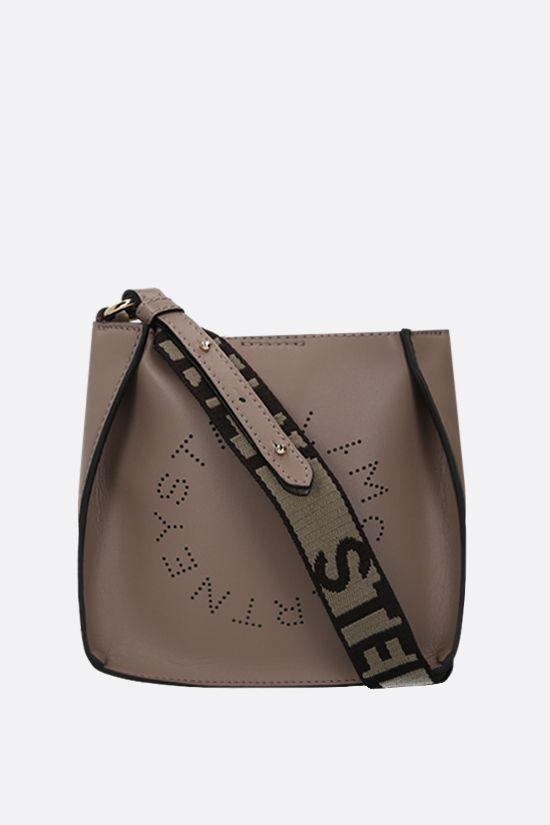 STELLA McCARTNEY: Stella Logo mini shoulder bag in Alter Nappa Color Neutral_1