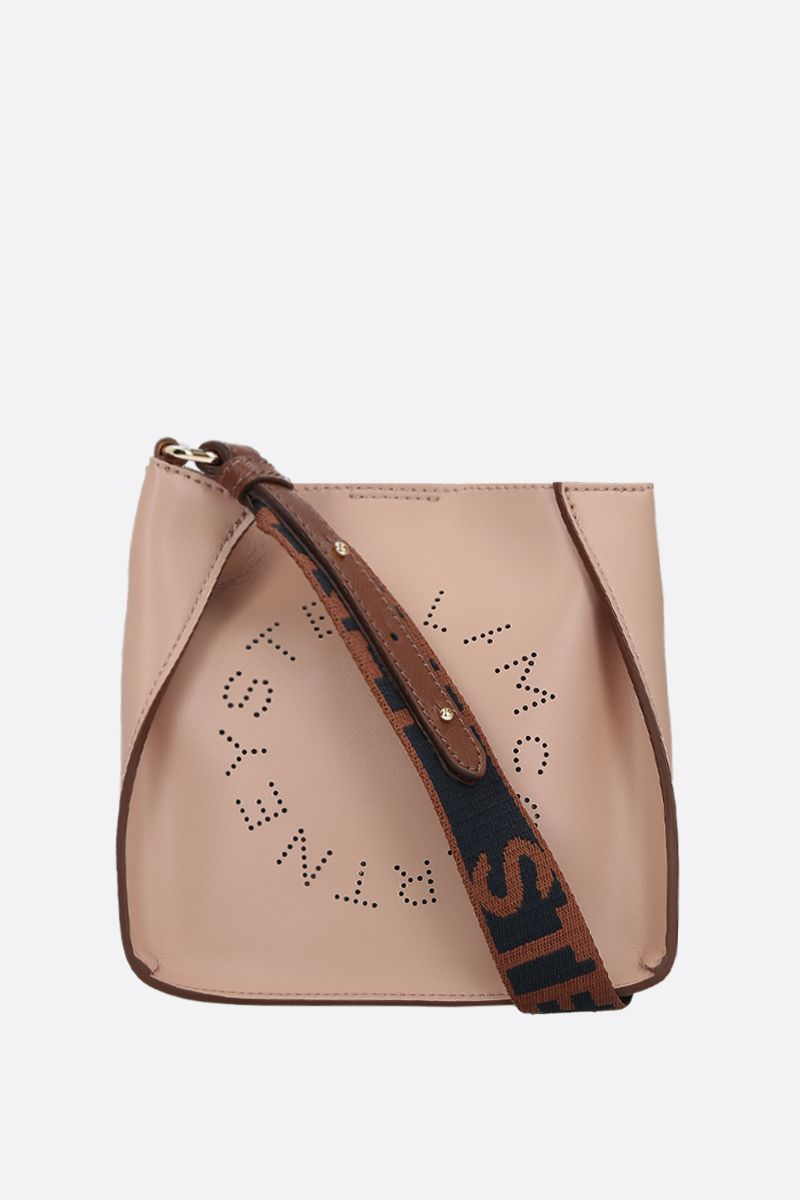 STELLA McCARTNEY: borsa a spalla Stella Logo mini in Alter Nappa Colore Rosa_1