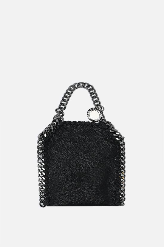 STELLA McCARTNEY: Falabella micro crossbody bag in Shaggy Deer Color Black_1