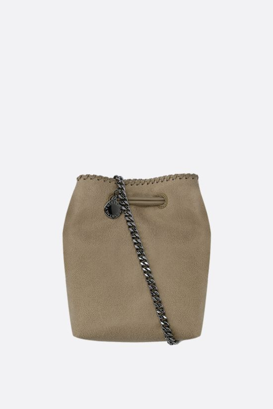 STELLA McCARTNEY: Falabella micro bucket bag in Shaggy Deer Color Brown_1