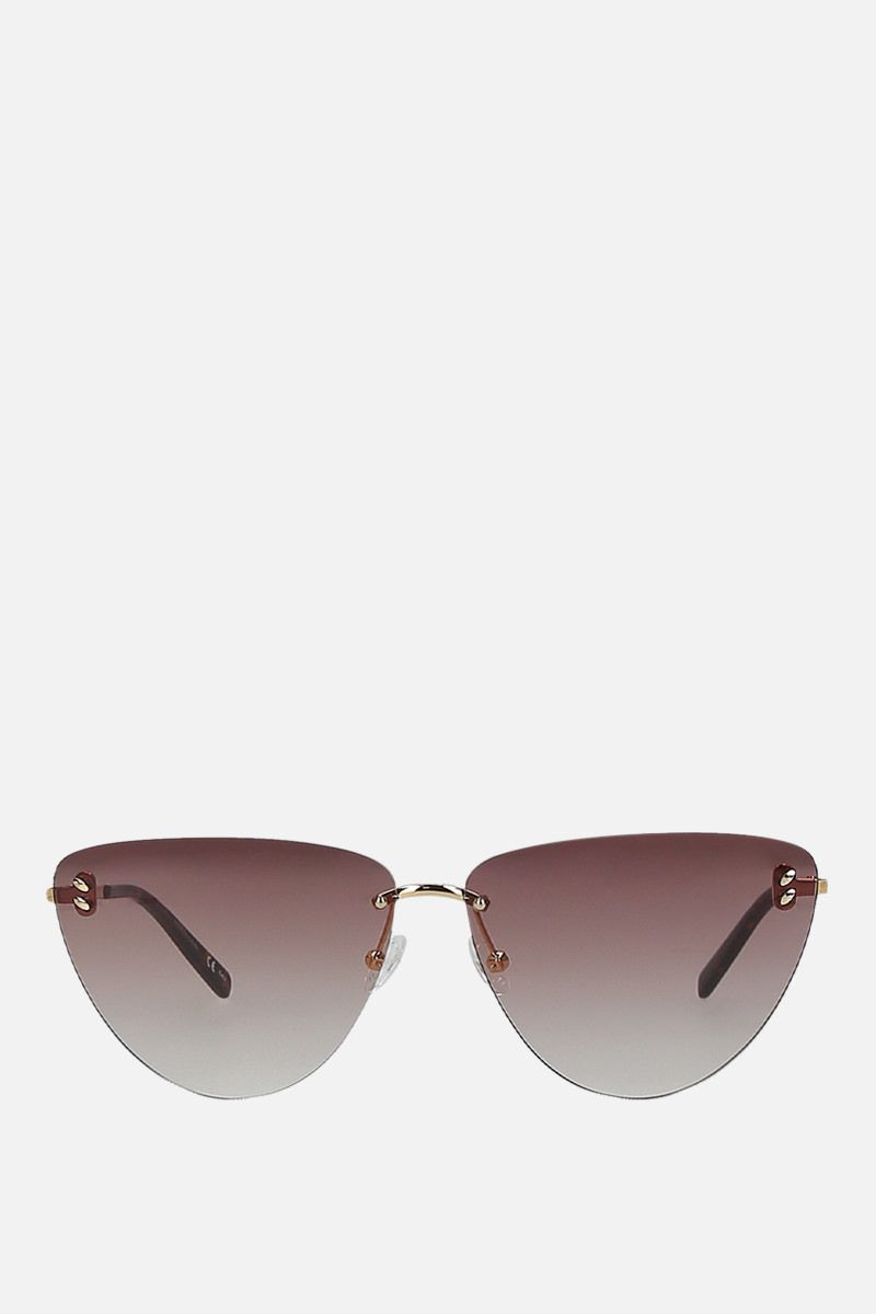 STELLA McCARTNEY: metal cat-eye sunglasses Color Gold_1