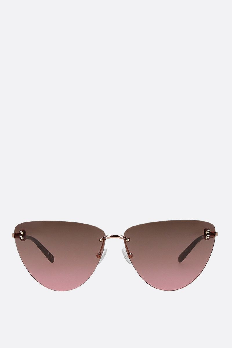 STELLA McCARTNEY: metal cat-eye sunglasses Color Pink_1