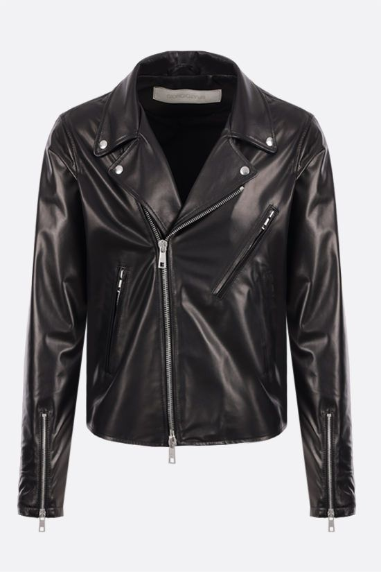 GIORGIO BRATO: nappa biker jacket Color Black_1