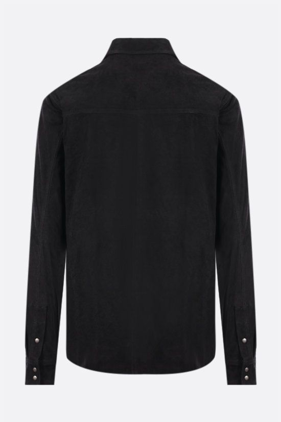 GIORGIO BRATO: suede leather overshirt Color Black_2